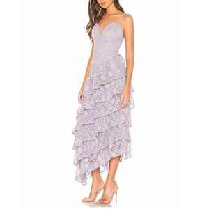 Majorelle Oracle Sleeveless Purple Silver Gown. XS
